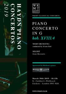 Haydn Piano Concerto in G 30.03.2019