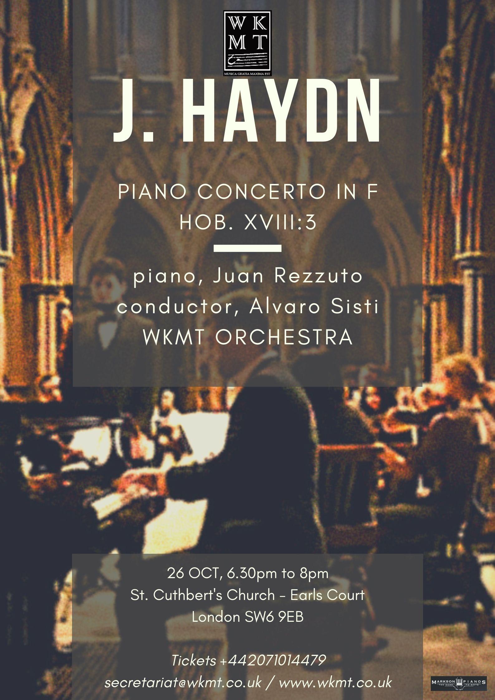 Haydn Piano Concerto in F Hob. XVIII:3